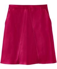 Blancheporte Koženková sukně malinová 36