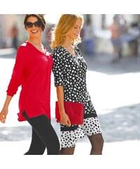 Blancheporte Potištěné šaty se zipovým výstřihem černá/bílá 36