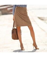 Blancheporte Semišová sukně hnědošedá 40