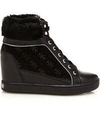 Guess Furr - Sneakers en cuir - noir