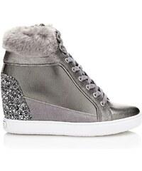 Guess Furr - Sneakers en cuir - gris