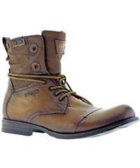 Bunker TARA - Boots en cuir - marron