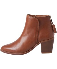 Pieces Dolly - Lederboots - cognacfarben