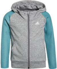 adidas Performance Sweatjacke medium grey heather/vapour blue