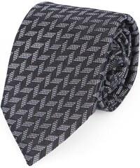 ARMANI COLLEZIONI Grau-schwarze Krawatte mit Pfeilmuster