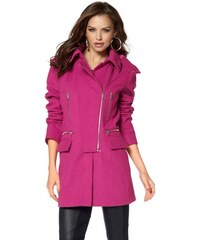 Dámský kratší vlněný kabát Laura Scott 34 pink