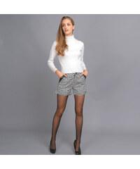 Lesara Shorts mit Hahnentritt-Muster - S