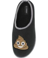 Lesara Pantoffel mit Poo-Aufnäher für Damen - Gesicht - 36