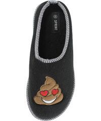 Lesara Pantoffel mit Poo-Aufnäher für Damen - Herz - 36