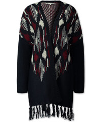 C&A Poncho mit Wolle in Rot / Blau