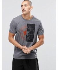 Converse - 10001084-A01 - T-shirt fendu avec logo - Noir - Noir