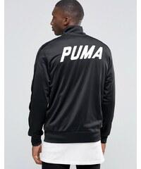 Puma - Veste de survêtement avec bordure en velours - Noir - Noir