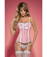 OBSESSIVE Dámský korzet Dottie corset pink XXL