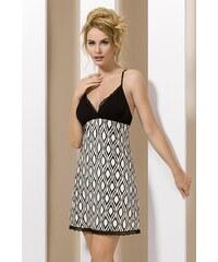 Passion Elegantní dámská košilka Lara černobílá XL