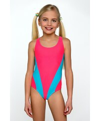 Lorin Dívčí plavky Bára tyrkys růžová