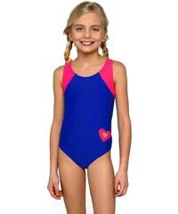 Lorin Dívčí plavky Eliška modro růžové