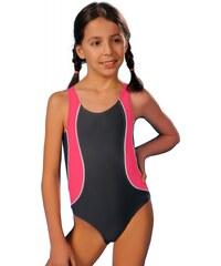 Winner Dívčí jednodilné plavky Ala šedo růžové