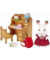 """Sylvanian Families Nábytek """"chocolate"""" králíků - sestra u psacího stolu se židlí"""