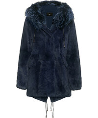 STEFFEN SCHRAUT Notting Hill Fur Coat Atlantic Blue