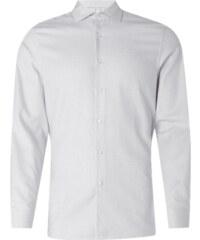 Calvin Klein Fitted Hemd mit Webmuster