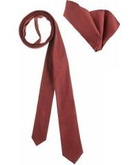 BRUNO BANANI Krawatte Set mit Einstecktuch