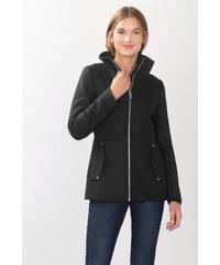 Esprit Měkká bunda z vlněné směsi, se zipem