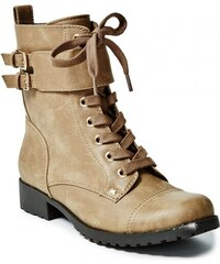 GUESS GUESS Berklee Combat Boots - light natural leather