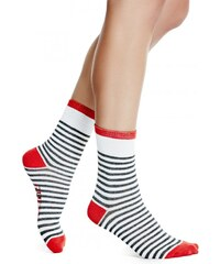 GUESS GUESS Striped Crew Socks - white multi