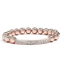 GUESS GUESS Rose Gold-Tone Bling Bar Stretch Bracelet - rose gold