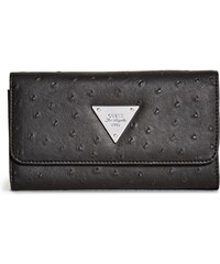 GUESS GUESS Stanwood Ostrich-Embossed Wallet - black