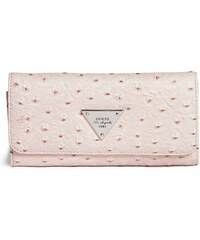 GUESS GUESS Stanwood Ostrich-Embossed Wallet - blush