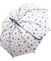 TopMode Vystřelovací deštník s barevnými puntíky modrá