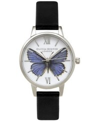 Montre Olivia Burton Woodland Midi Butterfly - Black and Silver
