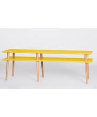 Konferenční stolek Mugo, délka 159 cm, žlutý