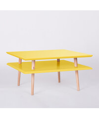 Konferenční stolek Square, 68x68 cm, žlutý