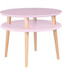 Konferenční stolek UFO Ø 57 cm, růžový