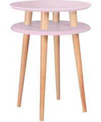 Konferenční stolek UFO Ø 45 cm, růžový