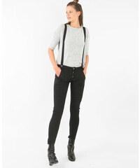 Jean taille haute à bretelles noir, Femme, Taille 40 -PIMKIE- MODE FEMME