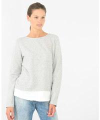 Sweat bimatière gris, Femme, Taille L -PIMKIE- MODE FEMME