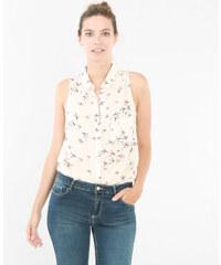 Pimkie Ärmellose Hemdbluse mit Vogel-Print