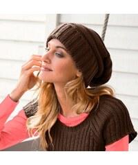 Blancheporte Pletená čepice čokoládová