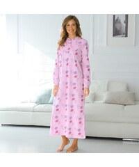 Blancheporte Noční košile s dlouhými rukávy růžová 34/36