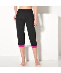 Blancheporte 3/4 pyžamové kalhoty s potiskem černá 34/36
