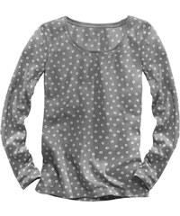 Blancheporte Tričko s kulatým výstřihem a dlouhými rukávy šedá/režná 34/36