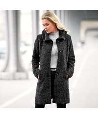 Blancheporte Kabát z vařené vlny šedý melír 38