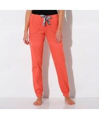 """Blancheporte Jednobarevné volnočasové kalhoty """"jungle"""" korálová 34/36"""