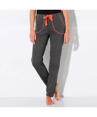 """Blancheporte Jednobarevné volnočasové kalhoty """"jungle"""" antracitová 34/36"""