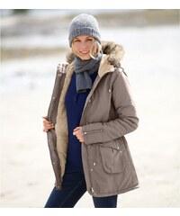 Blancheporte Parka s kapucí a hřejivou podšívkou hnědošedá 36