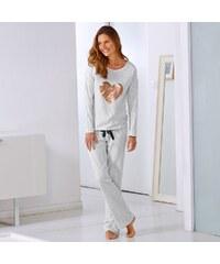 Blancheporte Souprava tričko s dlouhými rukávy a kalhoty šedá 34/36