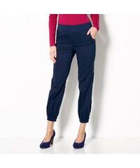 Blancheporte 7/8 kalhoty v členitém střihu námořnická modrá 38